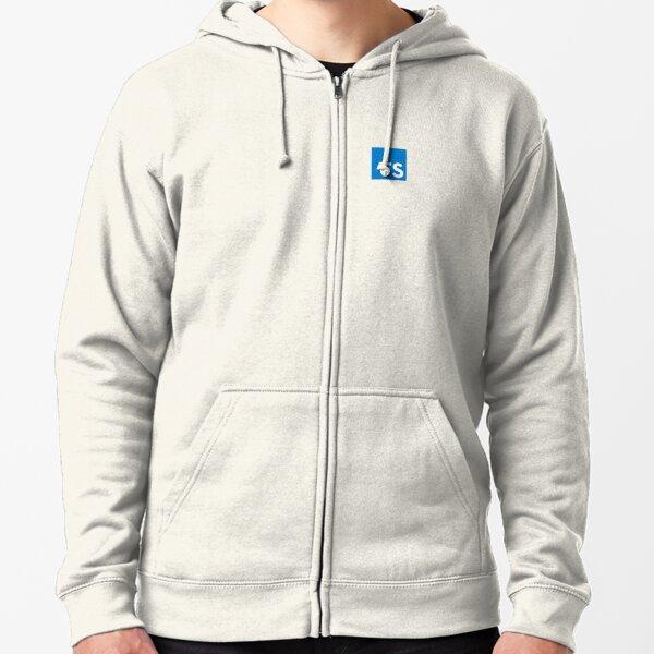 TypeScript Logo (White) Zipped Hoodie