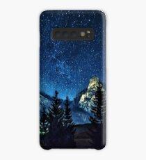 Starry night Mountain scene Case/Skin for Samsung Galaxy