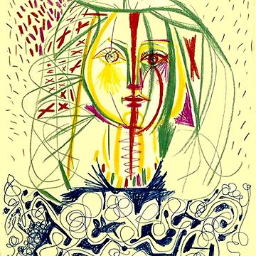 FRANCOISE: Vintage 1946 Portrait von Picasso Print von posterbobs