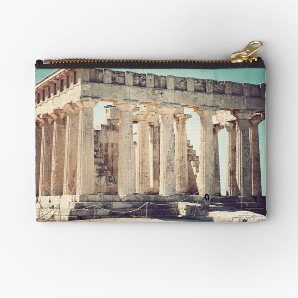 Temple of Aphaia Zipper Pouch