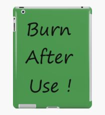 Burn After Use Green iPad-Hülle & Klebefolie