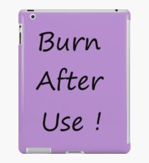Burn After Use Purple iPad-Hülle & Klebefolie