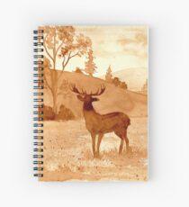 Coffee landscape Spiral Notebook