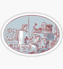 Judge Defendant Courtroom Etching Sticker