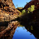 Hamersley Gorge, Karijini Postcard by JuliaKHarwood