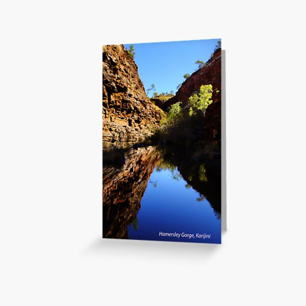 Hamersley Gorge, Karijini Postcard Greeting Card