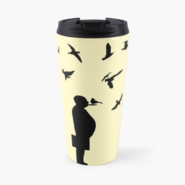 Alfred Hitchock Birds Silhouette Travel Mug