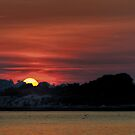 Sunset on light house by Jean-Pierre Ducondi