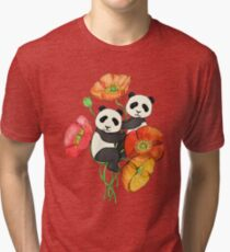 Poppies & Pandas Tri-blend T-Shirt
