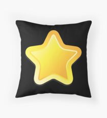 Simple rounded star Throw Pillow