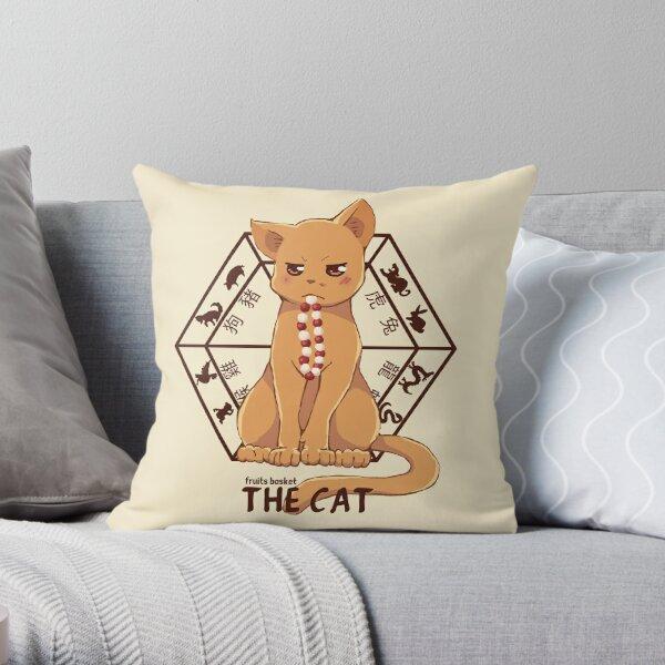 Kyo the cat Throw Pillow