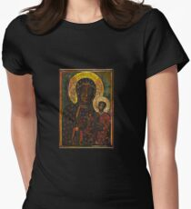 The Black Madonna Womens Fitted T-Shirt