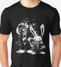 Sam & Max X Pulp Fiction (white) Unisex T-Shirt