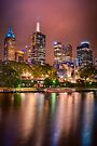 Melbourne Glow -  vertical by Raymond Warren