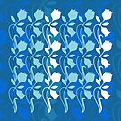 Layered Floral Silhouette Print (4 of 8 please see description) by Ra12