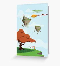 Floating Isle Explorer Greeting Card