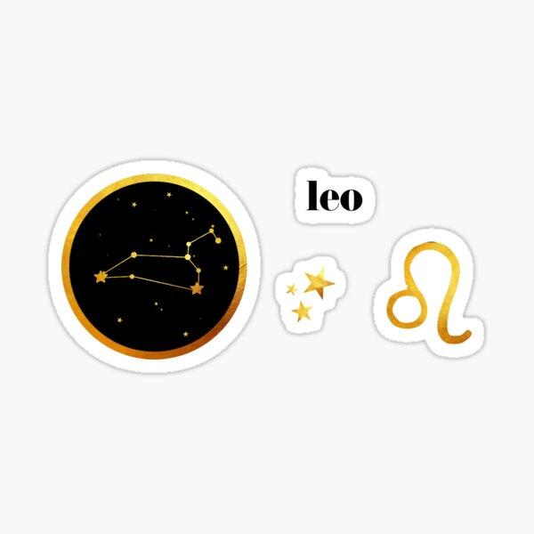 Gold Leo Sticker