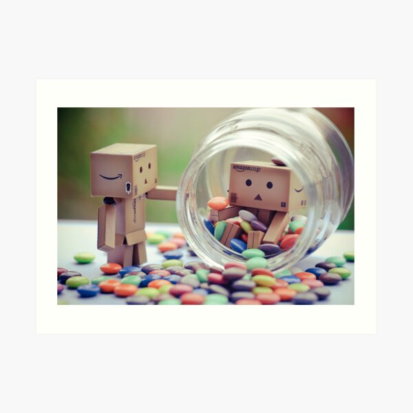 caught in a cookie (sweets) jar... Art Print