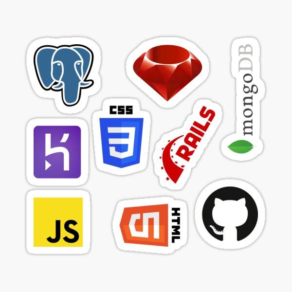 Ruby on Rails Development Combo Pack (med+) Sticker