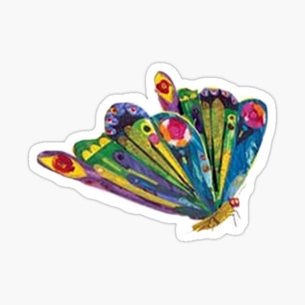 The very hungry caterpillar turned butterfly Sticker