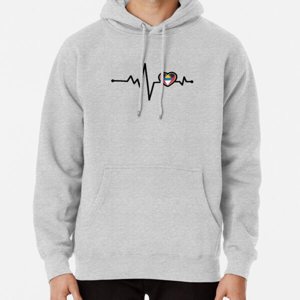 Antigua and Barbuda Heart Monitor Pullover Hoodie