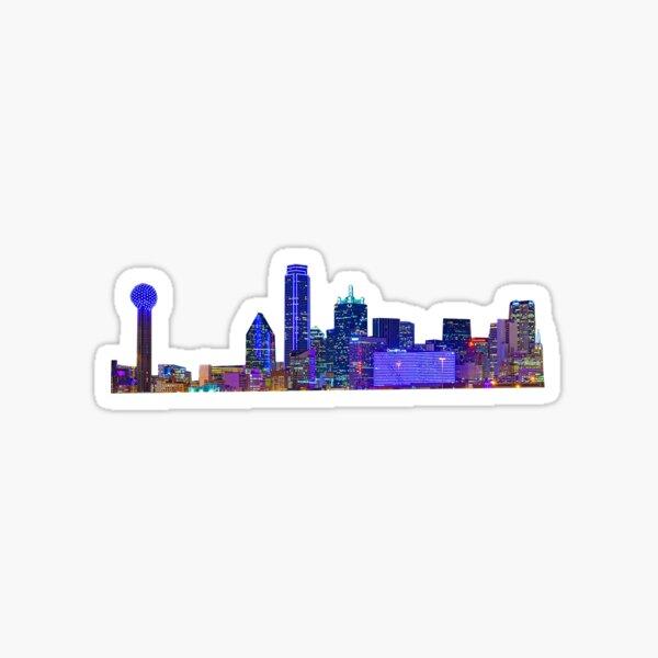 Purple Dallas Skyline Sticker