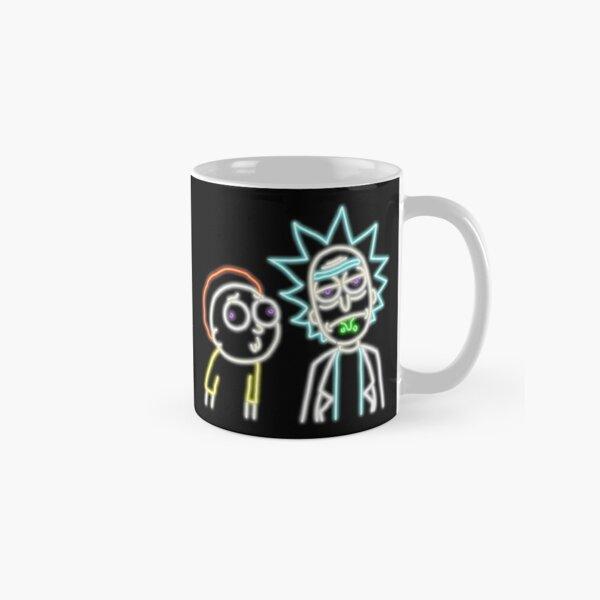 Neon Rick and Morty (Black) Classic Mug