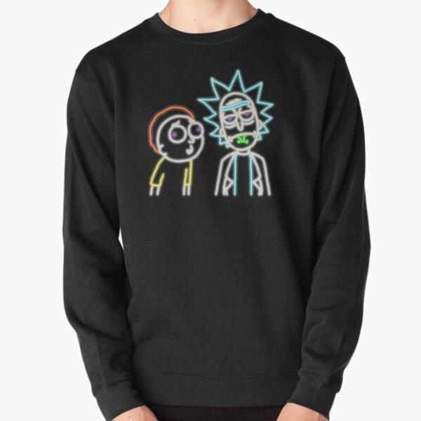 Neon Rick and Morty (Black) Pullover Sweatshirt