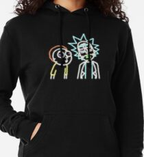 Neon Rick and Morty (Black) Lightweight Hoodie