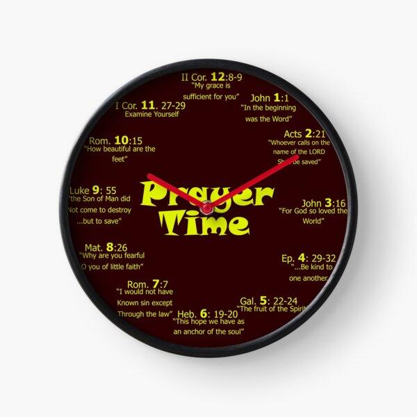 Prayer Time Clock Burgundy Clock
