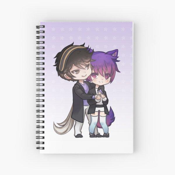 My Babysitter - Alex & Adam (chibi couple) Purple Spiral Notebook