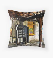 """""""Old Switchboard"""" Throw Pillow"""