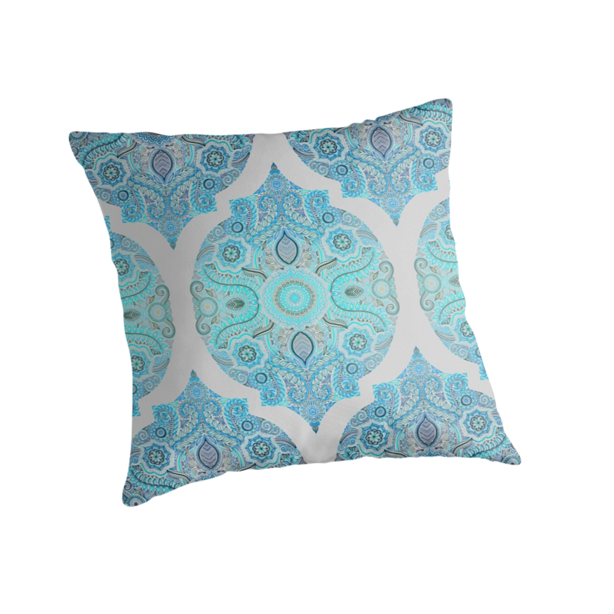 Quot Through Ocean Amp Sky Turquoise Amp Blue Moroccan Pattern