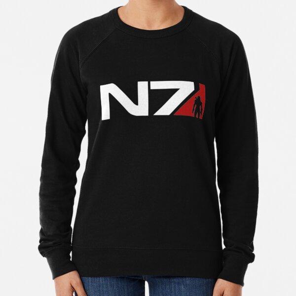 N7 NORMANDY LOGO Damen Hoodie Kapuzenpullover Shephard Mass Game Effect Symbol