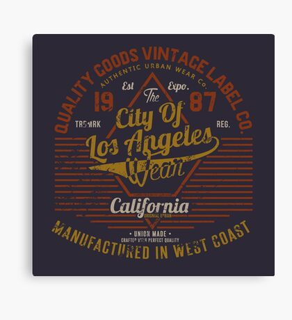 Copy of New York Vintage Hand Lettering College Design Canvas Print