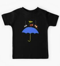 Raining Cats and DOGS (blue) T SHIRT/STICKER Kids Clothes
