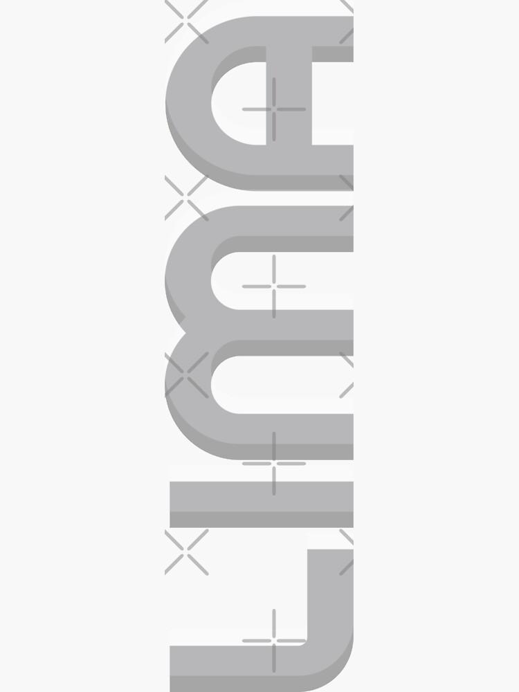 Lima Vertical Text by designkitsch