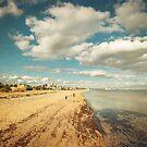 Port Melbourne Beach by jamjarphotos