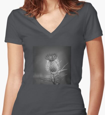 Thistle Women's Fitted V-Neck T-Shirt