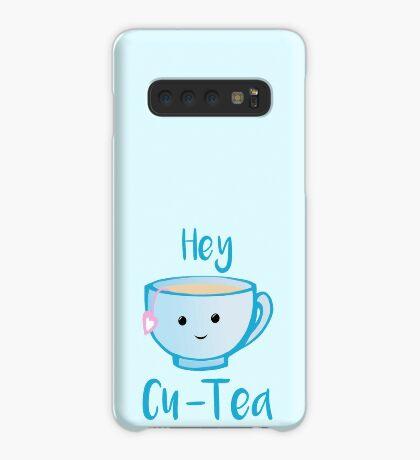 Hey Cu-tea Shirt - Tea Pun Case/Skin for Samsung Galaxy