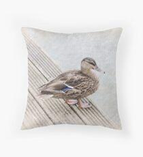 Queen Duck Throw Pillow