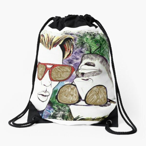 Hide Behind Masks   Drawstring Bag