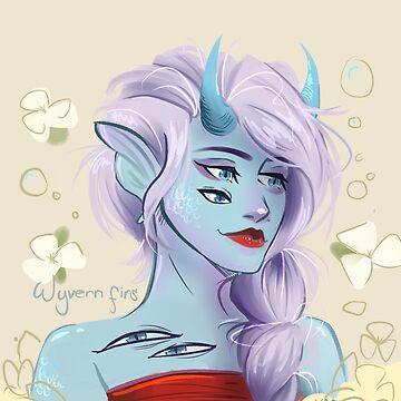 Blue Lady by Wyvern-fins