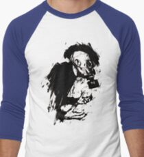 The Lonely Hunter (Ink/Brush Version) Men's Baseball ¾ T-Shirt