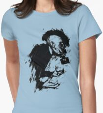 The Lonely Hunter (Ink/Brush Version) Womens Fitted T-Shirt