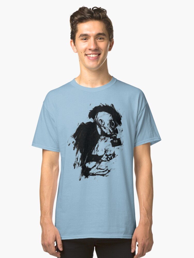 The Lonely Hunter (Ink/Brush Version) Classic T-Shirt Front
