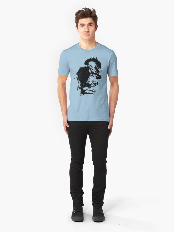 Alternate view of The Lonely Hunter (Ink/Brush Version) Slim Fit T-Shirt