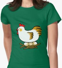 Farm chicken hen and 3 eggs T-Shirt
