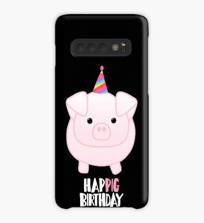 PIG Birthday Shirt - Happig birthday - Pun - Party - Gift - Present - Party Pig - Hog - Cute - Fun  Case/Skin for Samsung Galaxy