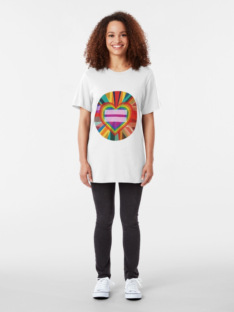 Alternate view of Equal Rainbow Union Slim Fit T-Shirt